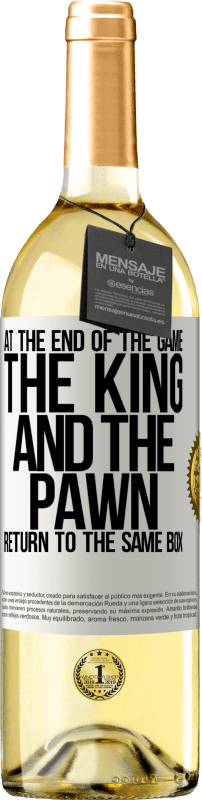 24,95 € Free Shipping   White Wine WHITE Edition At the end of the game, the king and the pawn return to the same box White Label. Customizable label Young wine Harvest 2020 Verdejo