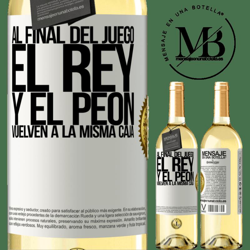 24,95 € Envoi gratuit   Vin blanc Édition WHITE A la fin de la partie, le roi et le pion retournent dans la même case Étiquette Blanche. Étiquette personnalisable Vin jeune Récolte 2020 Verdejo