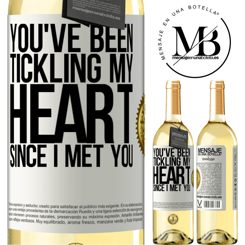 24,95 € Free Shipping | White Wine WHITE Edition You've been tickling my heart since I met you White Label. Customizable label Young wine Harvest 2020 Verdejo