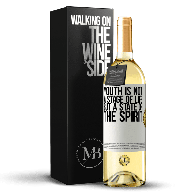 24,95 € Free Shipping   White Wine WHITE Edition Youth is not a stage of life, but a state of the spirit White Label. Customizable label Young wine Harvest 2020 Verdejo