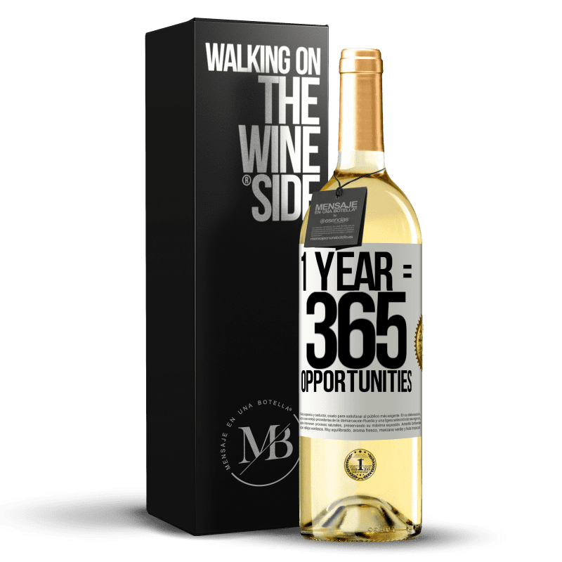 24,95 € Free Shipping   White Wine WHITE Edition 1 year 365 opportunities White Label. Customizable label Young wine Harvest 2020 Verdejo