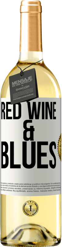 24,95 € Free Shipping | White Wine WHITE Edition Red wine & Blues White Label. Customizable label Young wine Harvest 2020 Verdejo