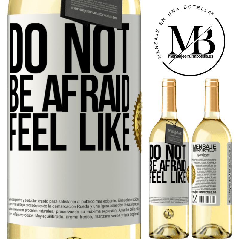 24,95 € Free Shipping   White Wine WHITE Edition Do not be afraid. Feel like White Label. Customizable label Young wine Harvest 2020 Verdejo