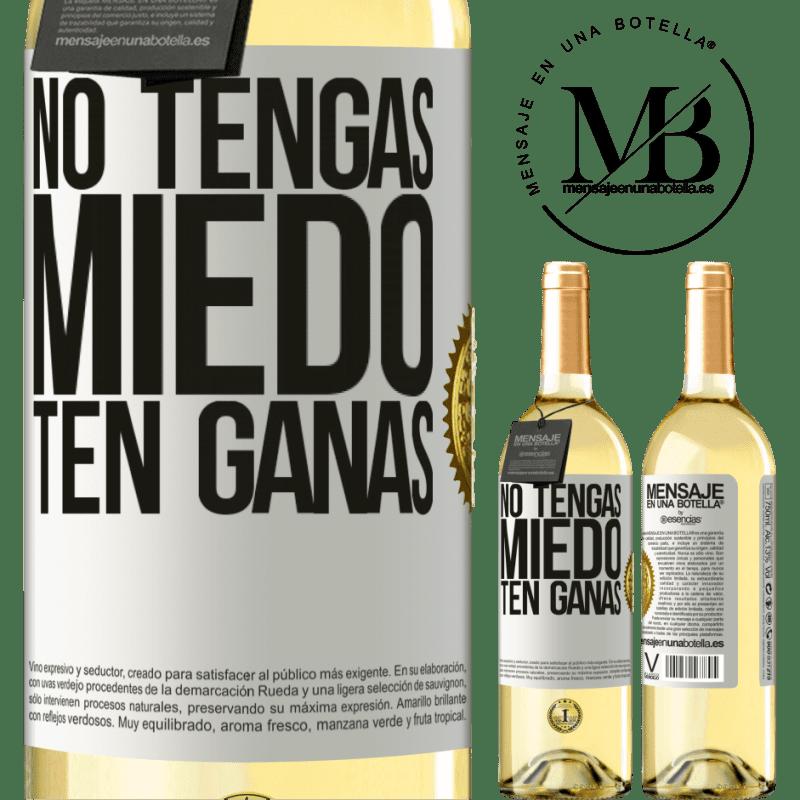 24,95 € Envoi gratuit   Vin blanc Édition WHITE N'ayez pas peur. Envie Étiquette Blanche. Étiquette personnalisable Vin jeune Récolte 2020 Verdejo
