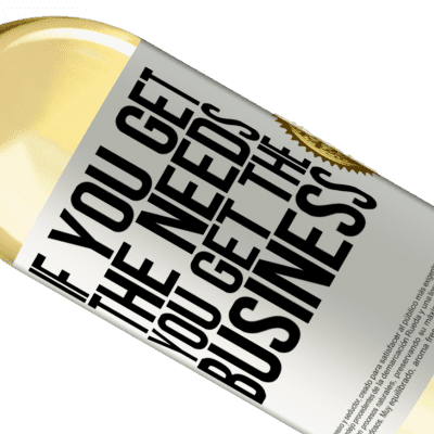 Unique & Personal Expressions. «If you get the needs, you get the business» WHITE Edition