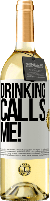24,95 € Free Shipping   White Wine WHITE Edition drinking calls me! White Label. Customizable label Young wine Harvest 2020 Verdejo