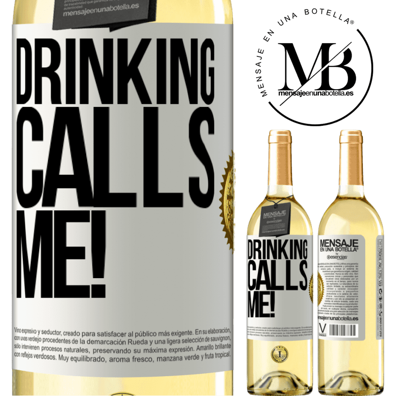 24,95 € Free Shipping | White Wine WHITE Edition drinking calls me! White Label. Customizable label Young wine Harvest 2020 Verdejo