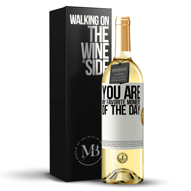 24,95 € Free Shipping | White Wine WHITE Edition You are my favorite moment of the day White Label. Customizable label Young wine Harvest 2020 Verdejo