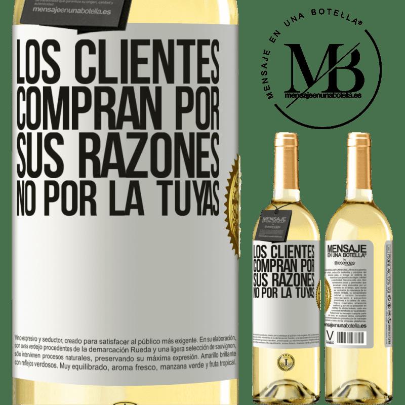 24,95 € Envoi gratuit | Vin blanc Édition WHITE Les clients achètent pour leurs raisons, pas les vôtres Étiquette Blanche. Étiquette personnalisable Vin jeune Récolte 2020 Verdejo