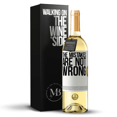 «The mistakes are not wrong» WHITE Edition