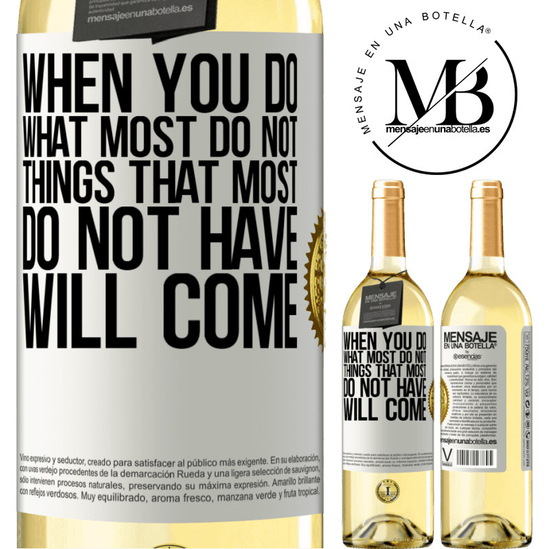 24,95 € Free Shipping | White Wine WHITE Edition When you do what most do not, things that most do not have will come White Label. Customizable label Young wine Harvest 2020 Verdejo