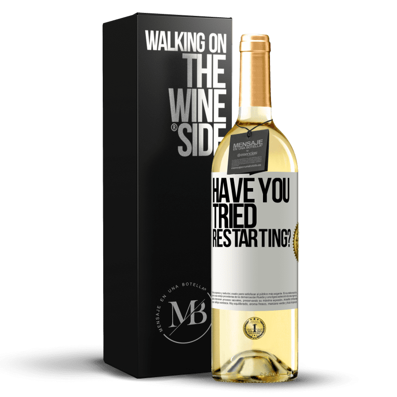 24,95 € Free Shipping   White Wine WHITE Edition have you tried restarting? White Label. Customizable label Young wine Harvest 2020 Verdejo