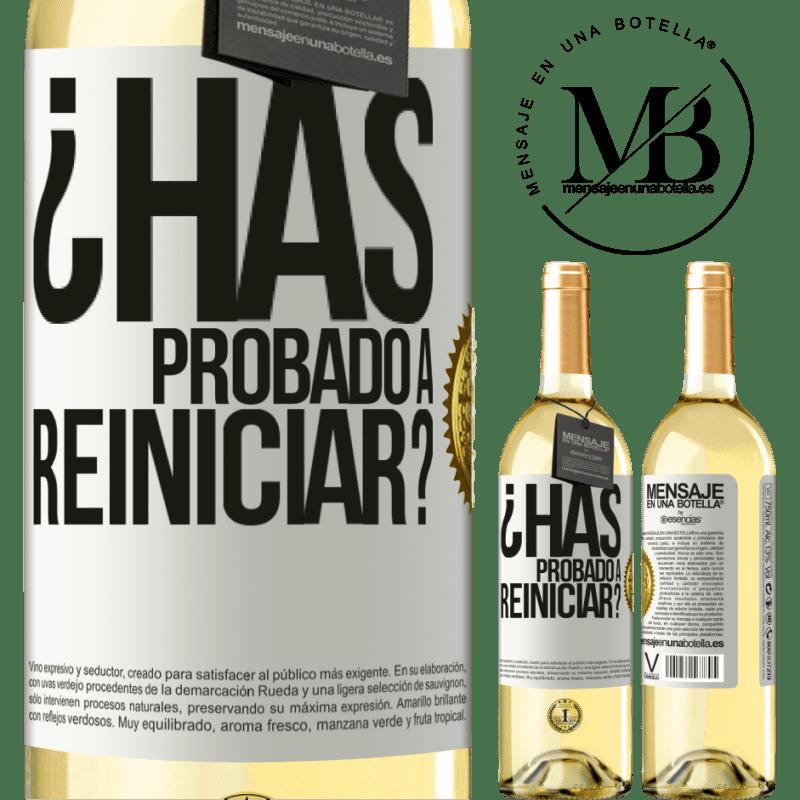 24,95 € Envoi gratuit | Vin blanc Édition WHITE avez-vous essayé de redémarrer? Étiquette Blanche. Étiquette personnalisable Vin jeune Récolte 2020 Verdejo