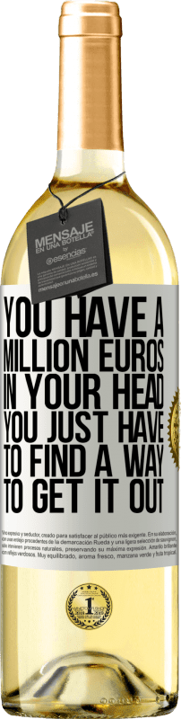 24,95 € Free Shipping | White Wine WHITE Edition You have a million euros in your head. You just have to find a way to get it out White Label. Customizable label Young wine Harvest 2020 Verdejo