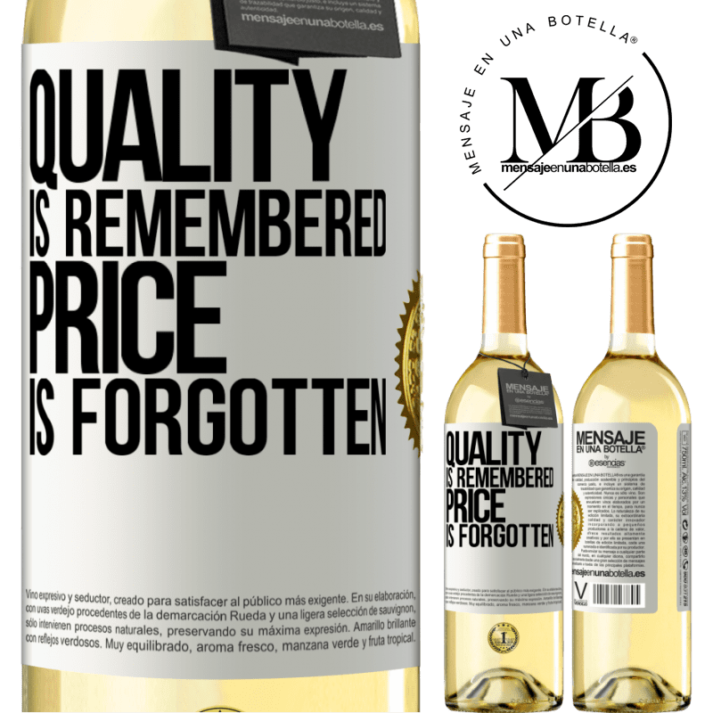 24,95 € Free Shipping   White Wine WHITE Edition Quality is remembered, price is forgotten White Label. Customizable label Young wine Harvest 2020 Verdejo