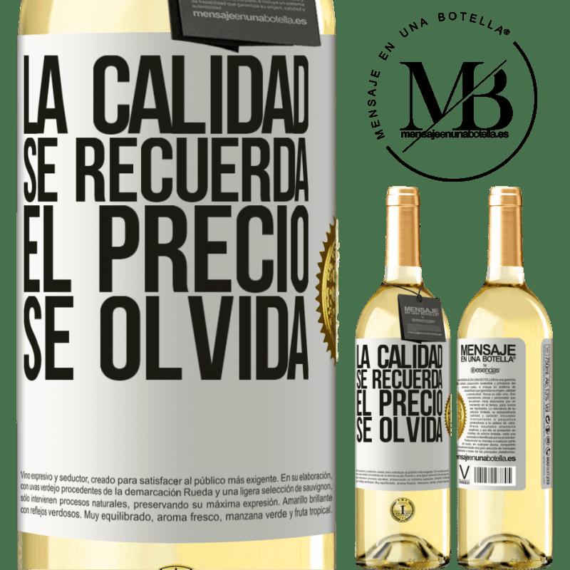 24,95 € Envoi gratuit | Vin blanc Édition WHITE La qualité est mémorisée, le prix est oublié Étiquette Blanche. Étiquette personnalisable Vin jeune Récolte 2020 Verdejo