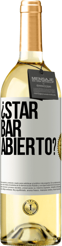 24,95 € Free Shipping | White Wine WHITE Edition ¿STAR BAR abierto? White Label. Customizable label Young wine Harvest 2020 Verdejo