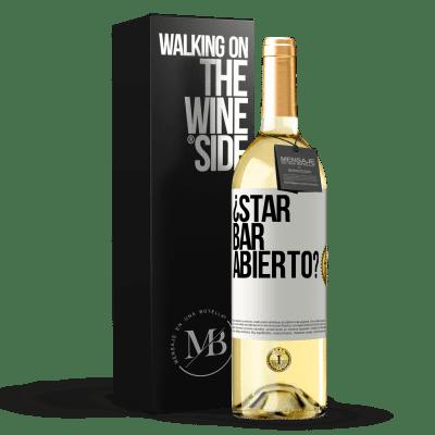 «¿STAR BAR abierto?» WHITE Edition