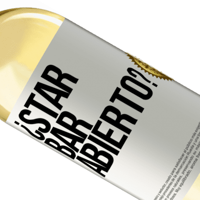 Unique & Personal Expressions. «¿STAR BAR abierto?» WHITE Edition