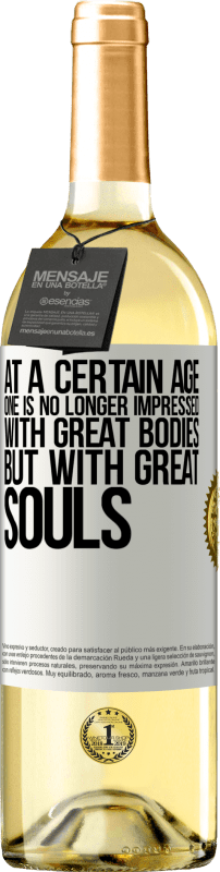 24,95 € Free Shipping   White Wine WHITE Edition At a certain age one is no longer impressed with great bodies, but with great souls White Label. Customizable label Young wine Harvest 2020 Verdejo
