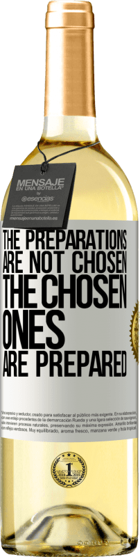 24,95 € Free Shipping | White Wine WHITE Edition The preparations are not chosen, the chosen ones are prepared White Label. Customizable label Young wine Harvest 2020 Verdejo