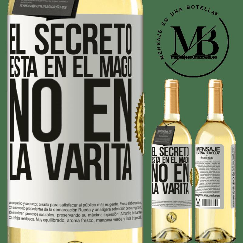 24,95 € Envoi gratuit | Vin blanc Édition WHITE Le secret est dans l'assistant, pas dans la baguette Étiquette Blanche. Étiquette personnalisable Vin jeune Récolte 2020 Verdejo