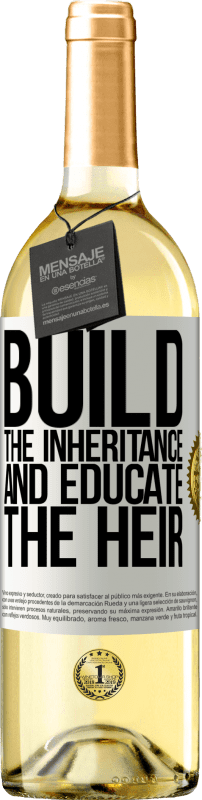 24,95 € Free Shipping | White Wine WHITE Edition Build the inheritance and educate the heir White Label. Customizable label Young wine Harvest 2020 Verdejo