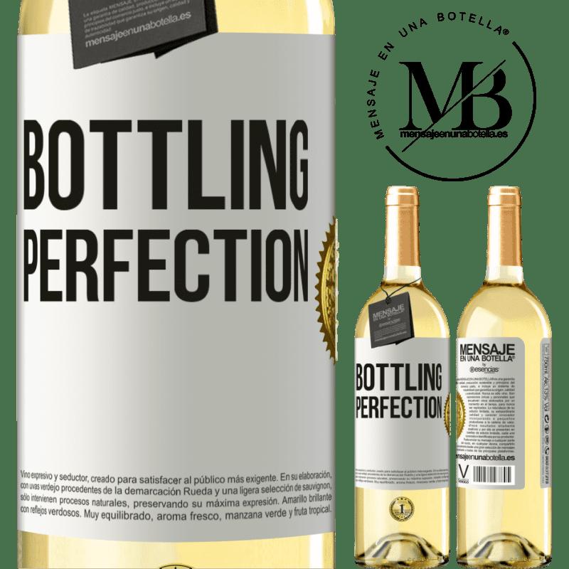 24,95 € Envío gratis | Vino Blanco Edición WHITE Bottling perfection Etiqueta Blanca. Etiqueta personalizable Vino joven Cosecha 2020 Verdejo