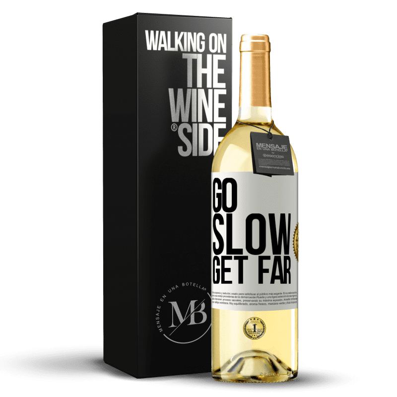 24,95 € Free Shipping   White Wine WHITE Edition Go slow. Get far White Label. Customizable label Young wine Harvest 2020 Verdejo