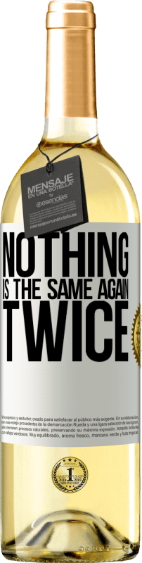 24,95 € Free Shipping | White Wine WHITE Edition Nothing is the same again twice White Label. Customizable label Young wine Harvest 2020 Verdejo