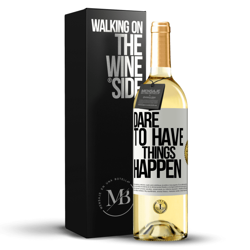 24,95 € Free Shipping | White Wine WHITE Edition Dare to have things happen White Label. Customizable label Young wine Harvest 2020 Verdejo