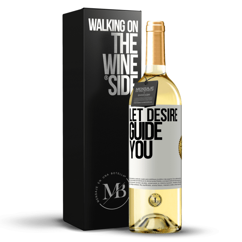 24,95 € Free Shipping | White Wine WHITE Edition Let desire guide you White Label. Customizable label Young wine Harvest 2020 Verdejo