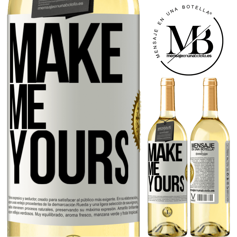 24,95 € Free Shipping | White Wine WHITE Edition Make me yours White Label. Customizable label Young wine Harvest 2020 Verdejo
