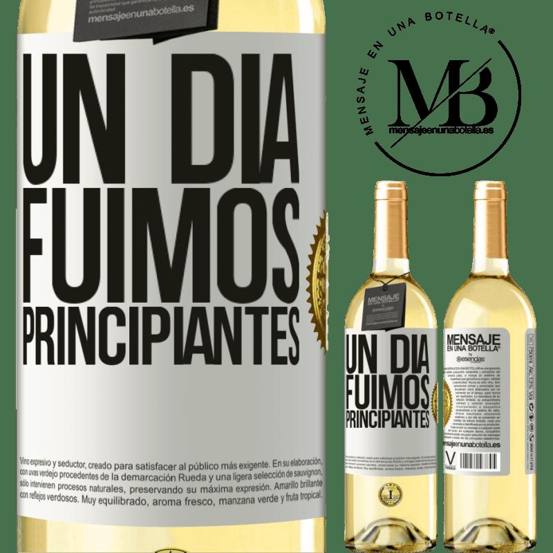 24,95 € Envoi gratuit   Vin blanc Édition WHITE Un jour, nous étions débutants Étiquette Blanche. Étiquette personnalisable Vin jeune Récolte 2020 Verdejo