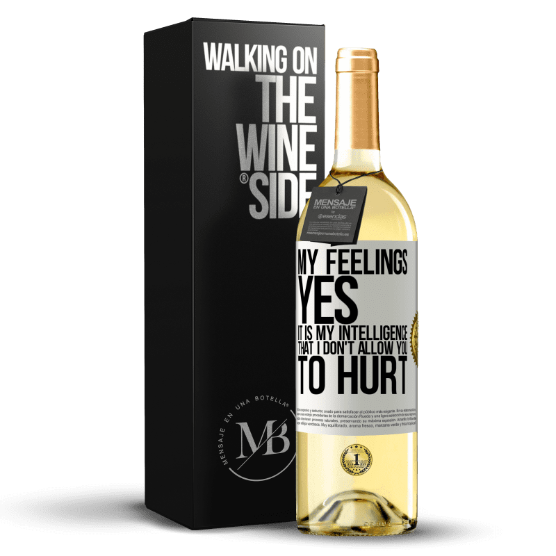 24,95 € Free Shipping   White Wine WHITE Edition My feelings, yes. It is my intelligence that I don't allow you to hurt White Label. Customizable label Young wine Harvest 2020 Verdejo