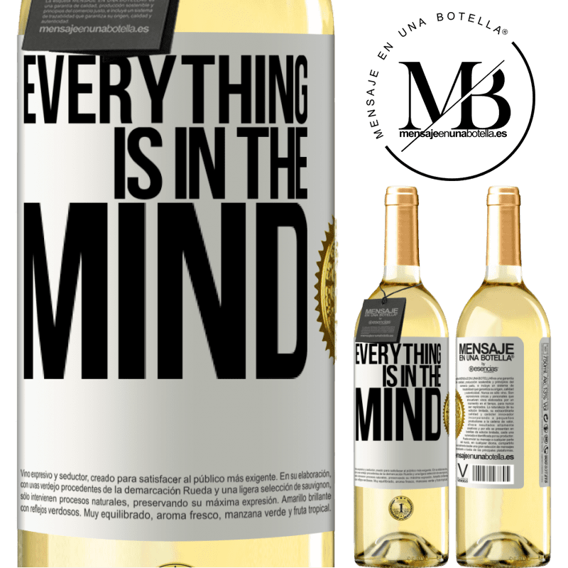 24,95 € Free Shipping | White Wine WHITE Edition Everything is in the mind White Label. Customizable label Young wine Harvest 2020 Verdejo