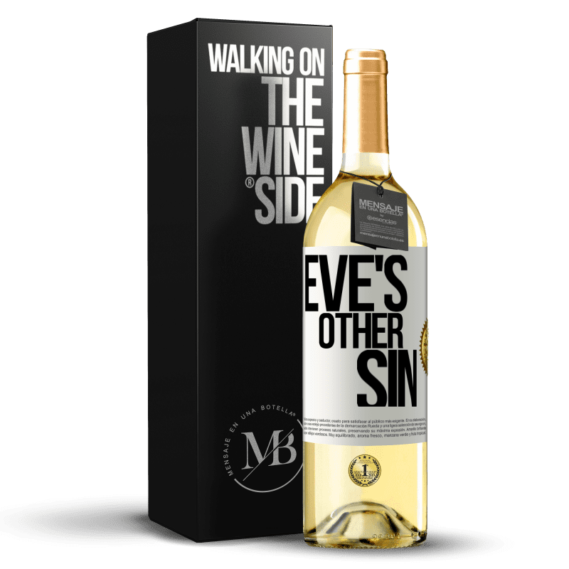 24,95 € Free Shipping | White Wine WHITE Edition Eve's other sin White Label. Customizable label Young wine Harvest 2020 Verdejo