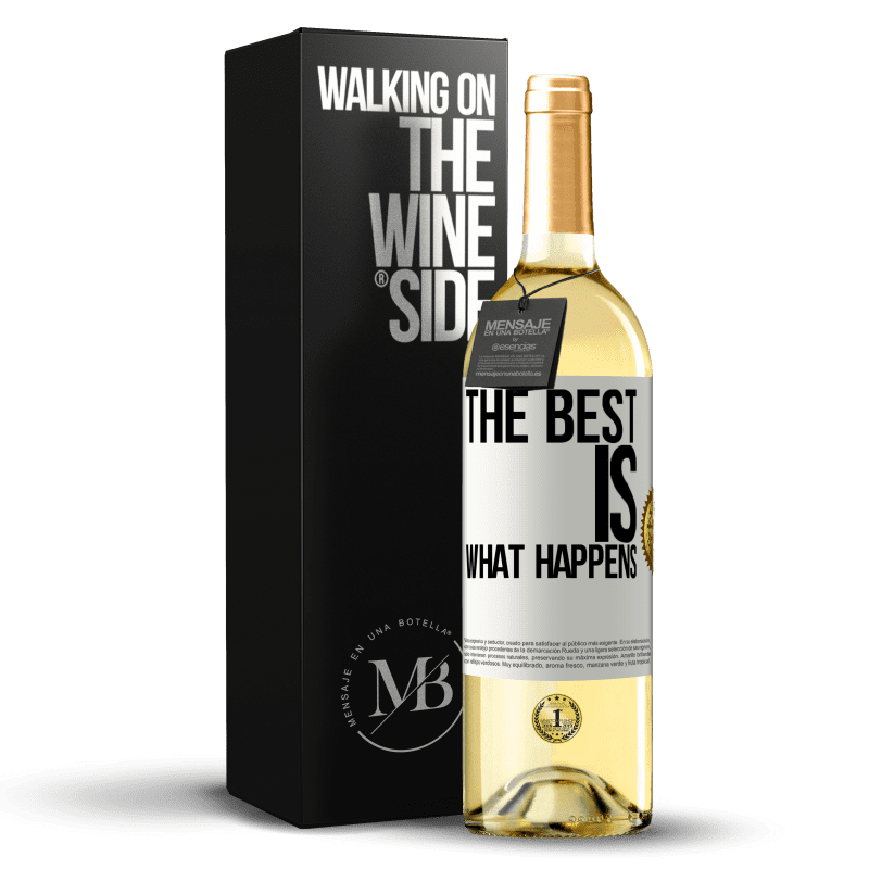 24,95 € Free Shipping | White Wine WHITE Edition The best is what happens White Label. Customizable label Young wine Harvest 2020 Verdejo