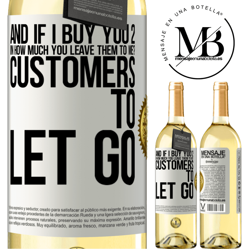 24,95 € Free Shipping   White Wine WHITE Edition and if I buy you 2 in how much you leave them to me? Customers to let go White Label. Customizable label Young wine Harvest 2020 Verdejo