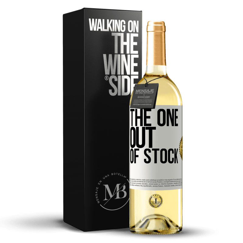 24,95 € Free Shipping   White Wine WHITE Edition The one out of stock White Label. Customizable label Young wine Harvest 2020 Verdejo