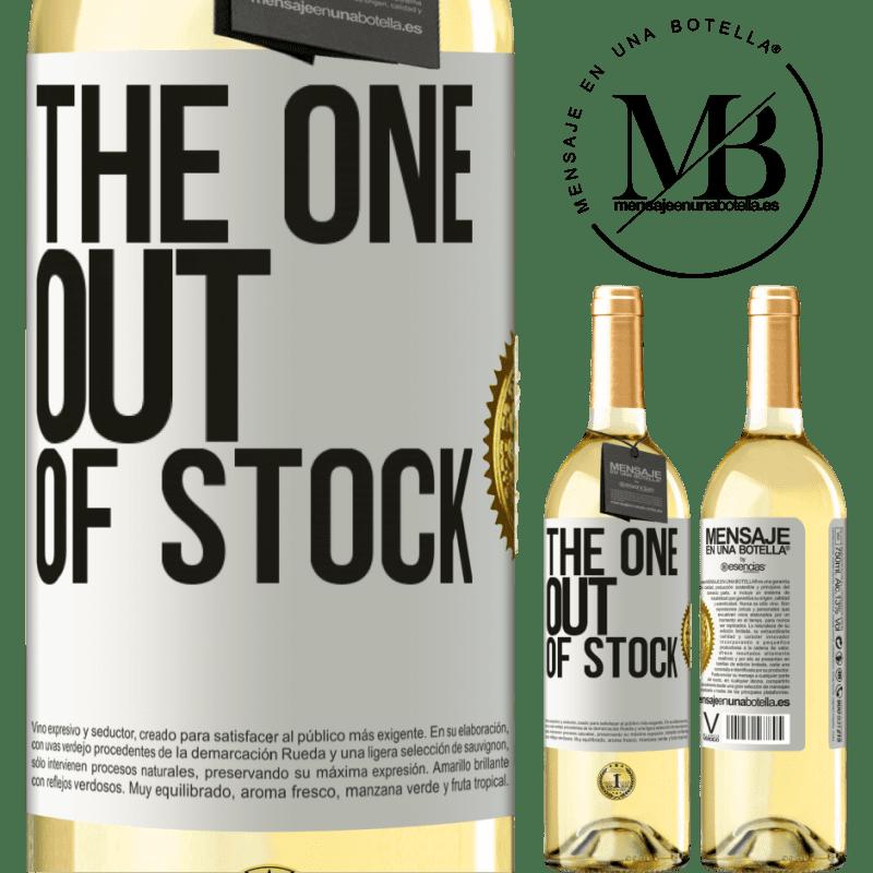 24,95 € Envío gratis | Vino Blanco Edición WHITE The one out of stock Etiqueta Blanca. Etiqueta personalizable Vino joven Cosecha 2020 Verdejo