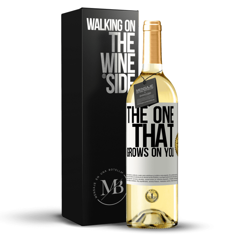 24,95 € Free Shipping | White Wine WHITE Edition The one that grows on you White Label. Customizable label Young wine Harvest 2020 Verdejo