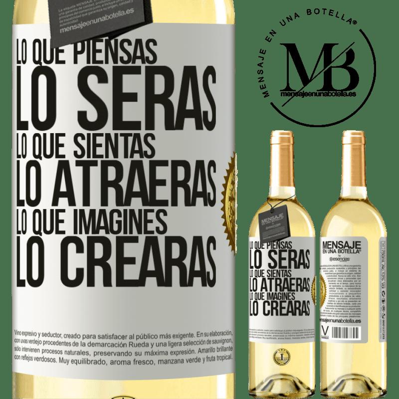 24,95 € Envío gratis   Vino Blanco Edición WHITE Lo que piensas lo serás, lo que sientas lo atraerás, lo que imagines lo crearas Etiqueta Blanca. Etiqueta personalizable Vino joven Cosecha 2020 Verdejo