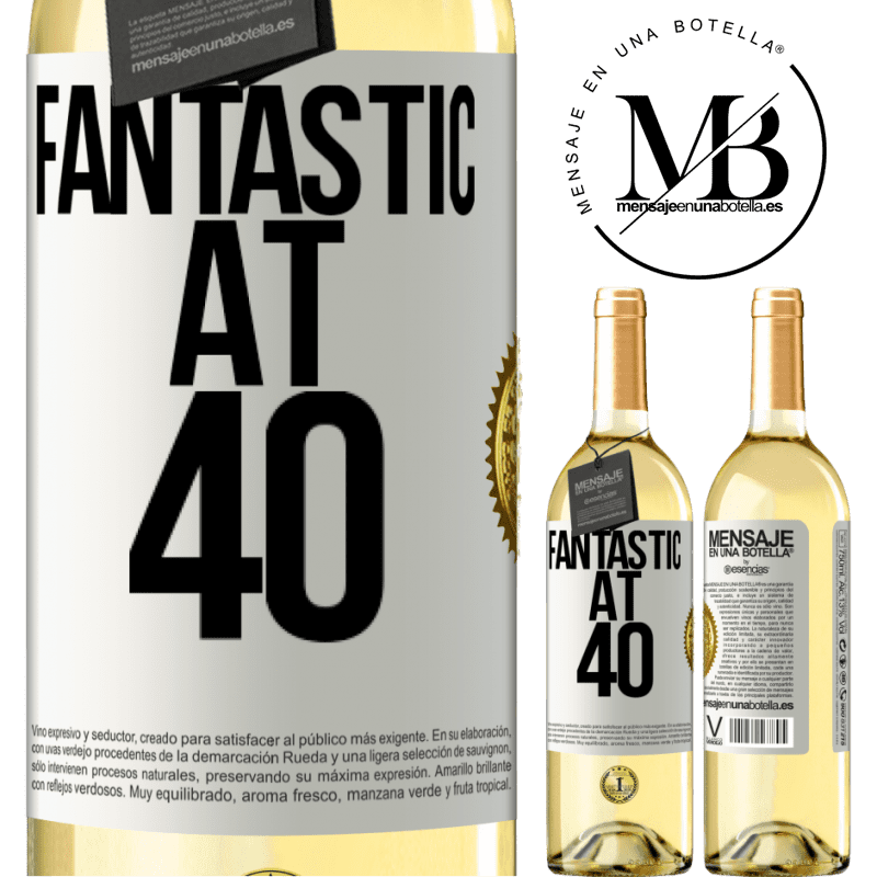 24,95 € Free Shipping   White Wine WHITE Edition Fantastic at 40 White Label. Customizable label Young wine Harvest 2020 Verdejo