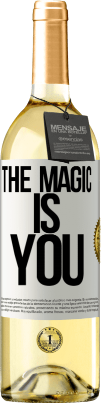 24,95 € Free Shipping   White Wine WHITE Edition The magic is you White Label. Customizable label Young wine Harvest 2020 Verdejo