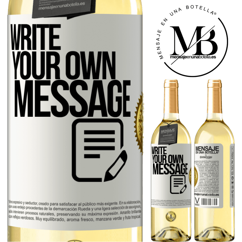 24,95 € Free Shipping   White Wine WHITE Edition Write your own message White Label. Customizable label Young wine Harvest 2020 Verdejo