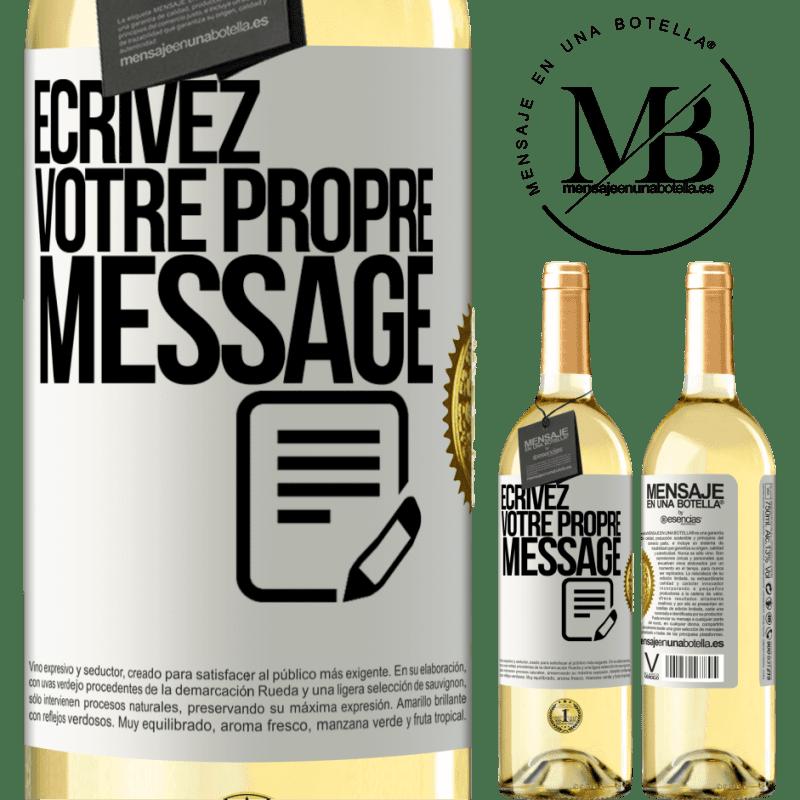 24,95 € Envoi gratuit | Vin blanc Édition WHITE Écrivez votre propre message Étiquette Blanche. Étiquette personnalisable Vin jeune Récolte 2020 Verdejo