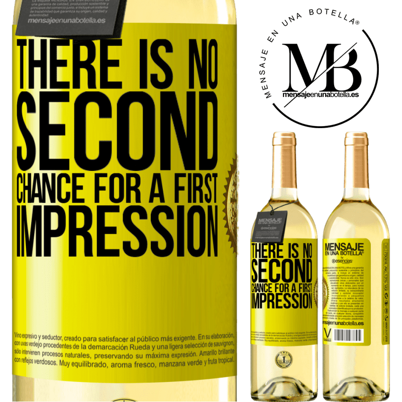 24,95 € Free Shipping   White Wine WHITE Edition There is no second chance for a first impression Yellow Label. Customizable label Young wine Harvest 2020 Verdejo