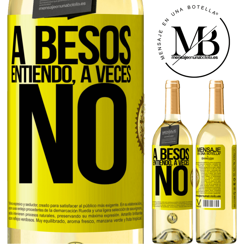 24,95 € Free Shipping   White Wine WHITE Edition A besos entiendo, a veces no Yellow Label. Customizable label Young wine Harvest 2020 Verdejo