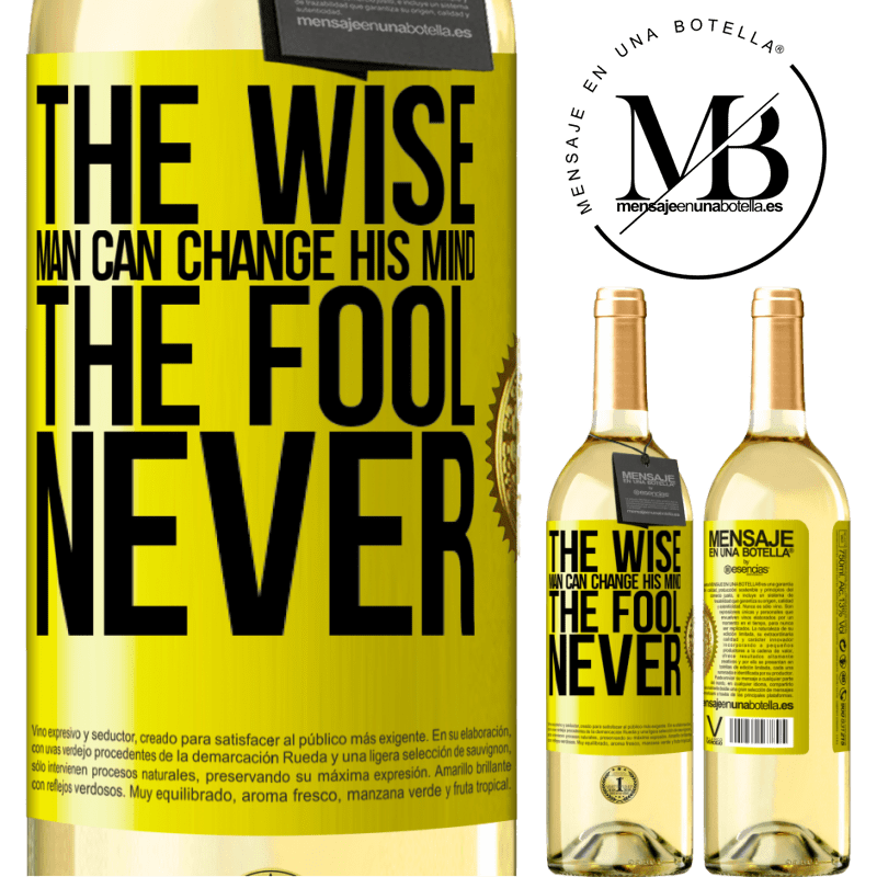 24,95 € Free Shipping   White Wine WHITE Edition The wise man can change his mind. The fool, never Yellow Label. Customizable label Young wine Harvest 2020 Verdejo